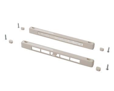 Комплект: клапан вентиляционный SM Tip Vent MINI + козырек наружный TIP, 4-20 m3/ч, белый RAL9016 Изображение