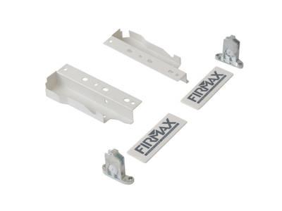 Комплект креплений 135мм (держатели фасада, держатели задней стенки, заглушки) для ящика Firmax Newline, белый Изображение 4