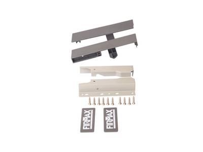 Комплект креплений 135мм (Соединители передней панели, держатели задней стенки, заглушки, винты) для вн. ящика Firmax Newline под 1 рейл., серый Изображение 2