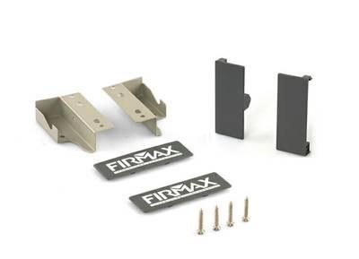 Комплект креплений Firmax высота 84 мм (Соединители передней панели, держатели задней стенки, заглушки, винты) для внутреннего ящика Newline, серый Изображение