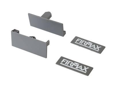 Комплект креплений Firmax высота 84 мм (Соединители передней панели, держатели задней стенки, заглушки, винты) для внутреннего ящика Newline, серый Изображение 2