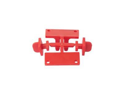 Комплект креплений для горизонтальных профилей GOLA Alphalux (4 части), под саморез, пластик Изображение 3
