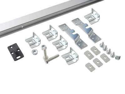 Комплект креплений для сдвижных дверей до 120 кг с системой мягкого закрывания с направляющей 2 м Изображение 3