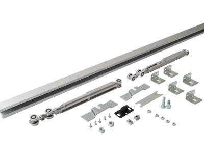Комплект креплений для сдвижных дверей до 40 кг с системой мягкого закрывания с направляющей 2 м Изображение