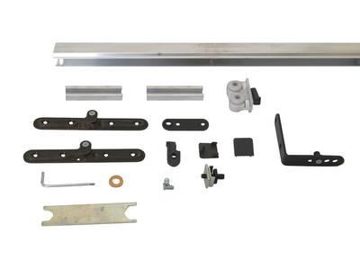 Комплект креплений для складных дверей 30 мм до 60 кг с направляющей Изображение 4