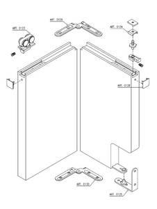 Комплект креплений для складных дверей 40 мм до 60 кг с направляющей Изображение 4