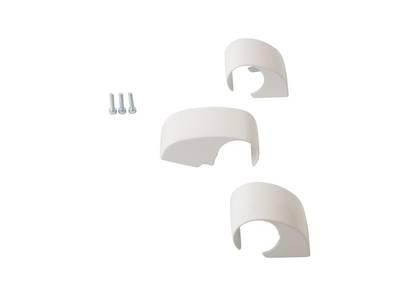 Комплект крышек 3 секционная DOMINA HP COVER (3 шт.), 62,5 мм, белые, межосевое 62,5 мм Изображение 2