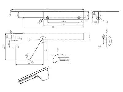 Комплект кронштейнов для полки ЛДСП 18мм FIRMAX (L+R), белый Изображение 2