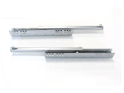Комплект направляющих скрытого монтажа Firmax Ecomotion L=350мм, частичного выдвижения с доводчиком, для ЛДСП 16мм Изображение 2