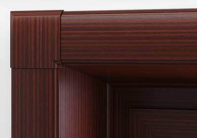 Комплект откосов дверных QUNELL (300х2200х1000 мм, махагон) Изображение 3