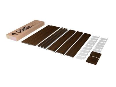 Комплект откосов дверных QUNELL (300х2200х1000 мм, темный дуб) Изображение