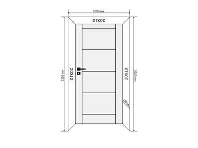Комплект откосов дверных QUNELL (400х2200х1000 мм, темный дуб) Изображение 2