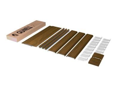 Комплект откосов дверных QUNELL (600х2200х1000 мм, орех) Изображение