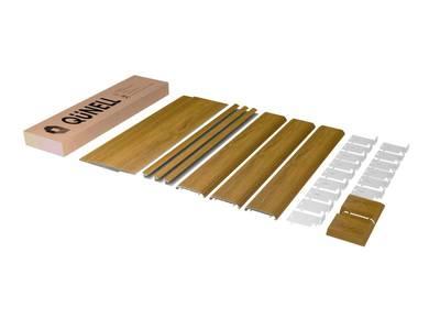Комплект откосов дверных QUNELL (600х2200х1000 мм, золотой дуб) Изображение