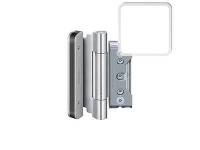 Комплект петель SIMONSWERK для дверей 3 шт. до 160 кг. белые, модель 4010 с противовзломным штифтом Изображение