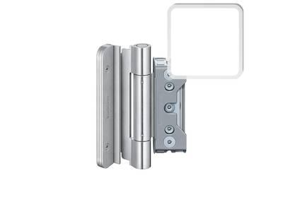 Комплект петель SIMONSWERK для дверей 3 шт. до 160 кг. белый RAL9016 модель 4030 с противовзломным штифтом Изображение