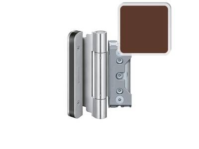 Комплект петель SIMONSWERK для дверей 3 шт. до 160 кг. коричневые модель 4010 с противовзломным штифтом Изображение