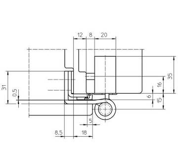 Комплект петель для дверей 3 шт. до 160 кг. оцинкованный Изображение 4