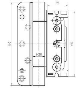 Комплект петель для дверей 3 шт. до 160 кг. оцинкованный Изображение 2