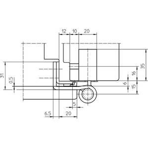 Комплект петель для дверей 3 шт. до 160 кг. оцинкованный Изображение 5