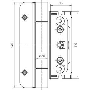 Комплект петель для дверей 3 шт. до 160 кг. оцинкованный Изображение 3