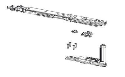 Комплект поворотно-откидной со скрытыми петлями C.H.I.C., 470-700 мм, ЕВРОПАЗ, правый, 100 кг, 043550001 Изображение 2