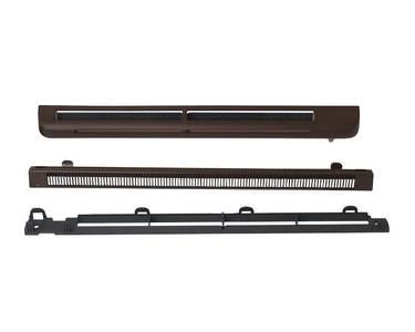 Комплект: приточное гигрорегулируемое устройство EMM2, козырек ASAM, 5-35 м3/ч, EHM1280 RU, RAL 8017 (тик) Изображение 2
