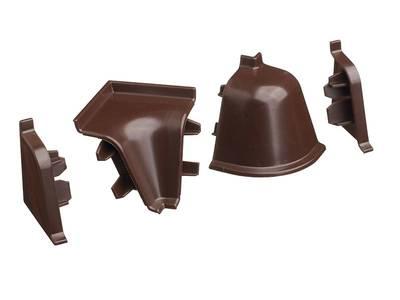 Комплект соединителей к бортику 118 / SB 135 96102 коричневый Изображение
