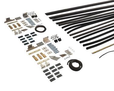 Комплект створок FLEX для двустворчатой двери 3000(Ш)x3200(В) мм (часть для сборки, в покраску не отправлять, необходима комплектация артикулом DOR2113A),  для заполнений - стекло, 8 мм, стеклопакет 22 мм, без стекла, 8020221) Изображение