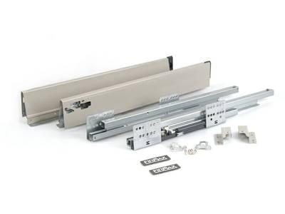 Комплект для ящика 500 мм Firmax Newline, 84мм с доводчиком, серый Изображение