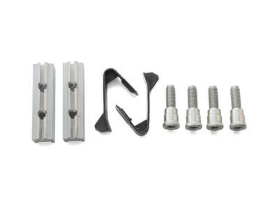 Комплект закладных пластин для крепления двухсекционных петель ALB2065 (2 закладных, 2 пластиковых пружины, 4 винта M8*36) Изображение