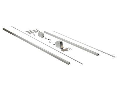 Запоры для ручки антипаника, 2 точки запирания вертикальные, серебро Изображение