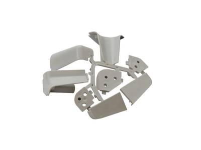 Комплект соединителей овального пристеночного бортика, пластик, серый (2 90 градусов, 2 заглушки, 1 135 градусов) Изображение 3