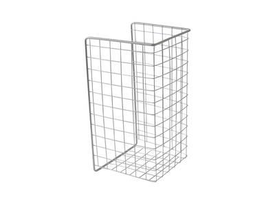 Корзина для белья откидная, ш=340мм, в=525мм, г=230мм, металлик серебристый FIRMAX Изображение 3