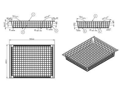 Корзина низкая FIRMAX 410х550мм, Н=87мм, белый Изображение 2
