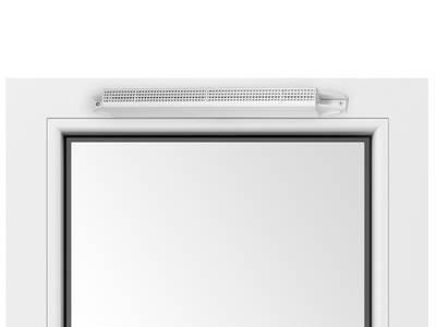 Козырек акустический A-EMM с решеткой от насекомых, белый, AEA833 Изображение