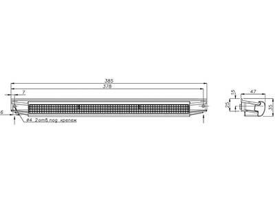 Козырек акустический A-EMM с решеткой от насекомых, белый, AEA833 Изображение 3