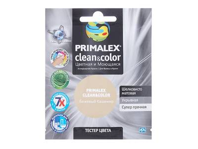 Краска  Primalex Clean&Color Бежевый Кашемир 40мл Изображение