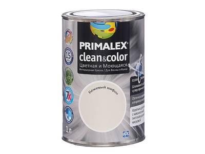 Краска  Primalex Clean&Color Бежевый Шифон 1л Изображение