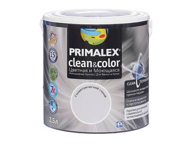Краска  Primalex Clean&Color Геометрический Серый 2,5л Изображение