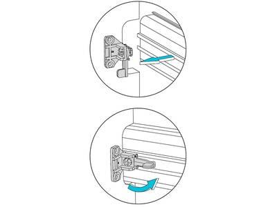 Крепление горизонтальных профилей Gola FIRMAX, на муфтах, пластик, серый Изображение 2