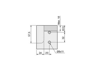 Крепление горизонтальных профилей Gola FIRMAX, на муфтах, пластик, серый Изображение 3