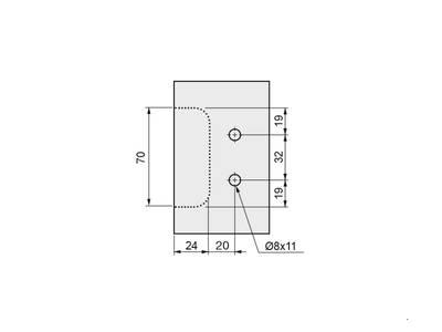 Крепление горизонтальных профилей Gola FIRMAX, на муфтах, пластик, серый Изображение 4