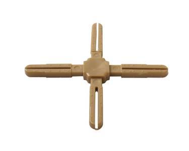 Крест пластиковый с декоративной центральной частью Germanella золото Изображение 2