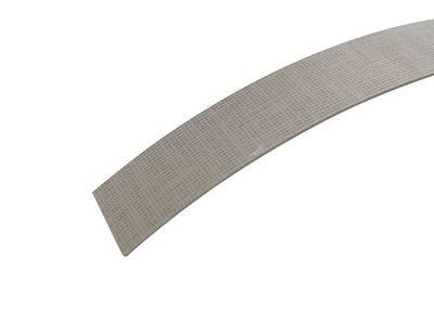 Кромка для ДСП и МДФ плит REHAU (ABS, 3D, текстиль серебро глянец, 23х1 мм, одноцветная) Изображение 2