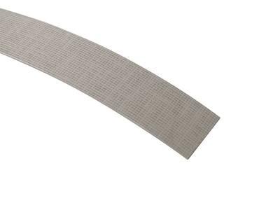 Кромка для ДСП и МДФ плит REHAU (ABS, 3D, текстиль серебро глянец, 23х1 мм, одноцветная) Изображение 3