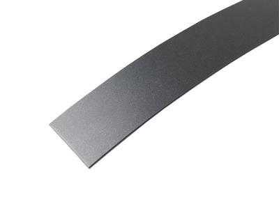 Кромка для ДСП и МДФ плит MKT (ABS, черный Metaldeco, 23х1 мм, одноцветная) Изображение 2