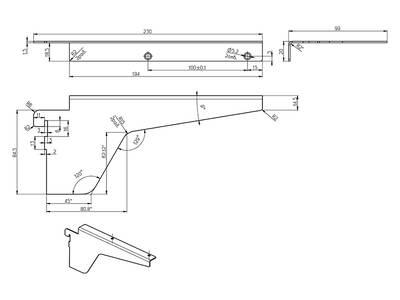 Кронштейн средний для полки ЛДСП 18мм FIRMAX, белый Изображение 4