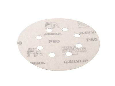 Круг шлифовальный на липкой основе Q.SILVER   D=125мм. 8отв. Р80 Изображение 2