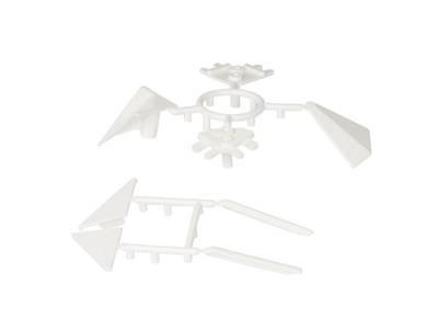 Комплект соединителей треугольного пристеночного бортика ALPHALUX (6 частей), пластик, белый Изображение 2